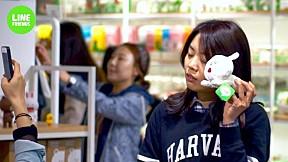 LINE FRIENDS in Myungdong, Korea
