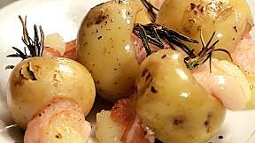 Bacon Cheese Stuffed Baby Potatoes