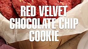 Red Velvet Chocolate Chip Cookie