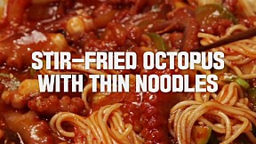Stir-fried Octopus With Thin Noodles