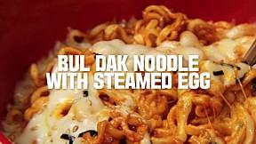 Bul Dak Noodle With Steamed Egg