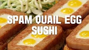 Spam Quail Egg Sushi