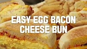 Easy Egg Bacon Cheese Bun