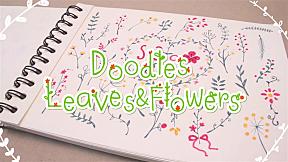 How to : รวม Doodles ใบไม้และดอกไม้ สำหรับตกแต่งเลคเชอร์
