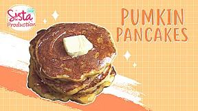 SistaCafe Cooking : สูตรแพนเค้กฟักทองเพื่อสุขภาพ อิ่มง่ายสบายท้อง