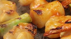 大蒜蝦串 Garlic Shrimp Skewer