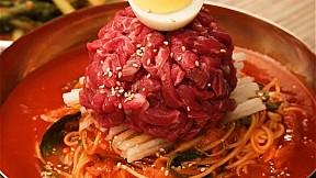 涼拌生牛肉拌麵 Spicy Beef Tartare Noodles