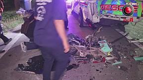 เรื่องจริงผ่านจอ | อุบัติเหตุซ้ำซ้อน ชนกู้ภัย