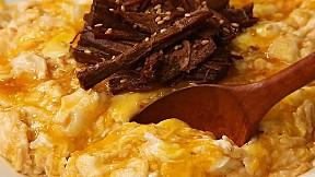 雞蛋醬牛肉蓋飯 Egg Bomb Rice with Soy Sauce Braised Beef