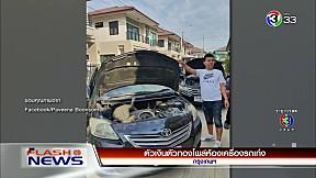 ตัวเงินตัวทองโผล่ห้องเครื่องรถเก๋ง | FlashNews | 31-12-62 | Ch3Thailand