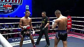 5 ก.พ. 63   คู่ที่ 2   นุติวัฒน์ เกียรตินาวี VS เสือใหญ่ มิสกวัน l The Global Fight Champion challenge