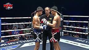 HIGHLIGHT | คู่ที่ 4 | เพชรเมืองลพ เพ็ชรจินดา VS เพชรบุญช่วย มัลลิกามวยไทย (ลาว) | THE GLOBAL FIGHT | 11 มี.ค. 63