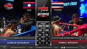 [FIGHT 2] เอาเค้าไม่ลงจริงๆ!! LAOS VS THAILAND - MAX MUAY THAI