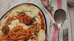 Cheese Meatball Spaghetti