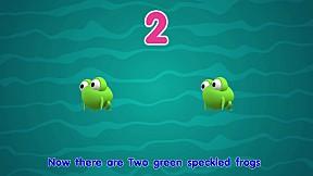 Zoovivor cartoon animation - Five Little Speckled Frogs
