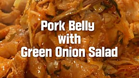Pork Belly with Green Onion Salad