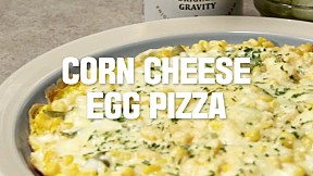 Corn Cheese Egg Pizza