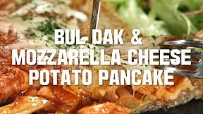 Bul Dak & Mozzarella Cheese Potato Pancake