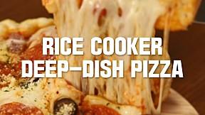 Rice Cooker Deep-Dish Pizza