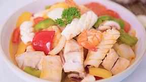 """วิธีทำ เมนู """"ผัดเปรี้ยวหวานทะเล"""" ทานเป็นกับข้าวมื้อไหนก็อร่อย!"""