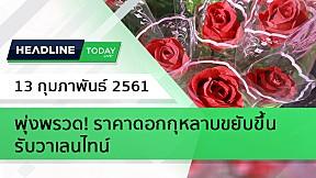 HEADLINE TODAY - พุ่งพรวด! ราคาดอกกุหลาบขยับขึ้นรับวาเลนไทน์