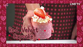 SistaCafe Cooking : สูตร Red Velvet Cupcake คัพเค้กกำมะหยี่สีแดง แสนอร่อย