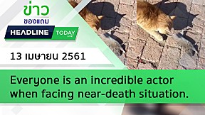 HEADLINE TODAY - Everyone is an incredible actor when facing near-death situation.