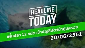 HEADLINE TODAY - เพิ่มปลา 12 ชนิด เข้าบัญชีสัตว์ป่าคุ้มครอง