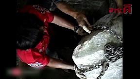 เรื่องจริงผ่านจอ   หินถล่มทับคนงาน
