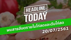 HEADLINE TODAY - พบสารอันตรายในไก่สดและตับไก่สด