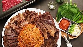 甜辣韓國式涼麵配全牛宴 Spicy Chewy Noodles With Beef