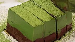 抹茶朱古力慕斯蛋糕 Matcha Chocolate Mousse Cake