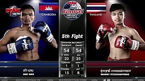 27 ก.พ. 63 | คู่ที่ 5 | รุ่งฤทธิ์ เพชรแสงทอง VS เก้า มาบ | The Global Fight Champion challenge